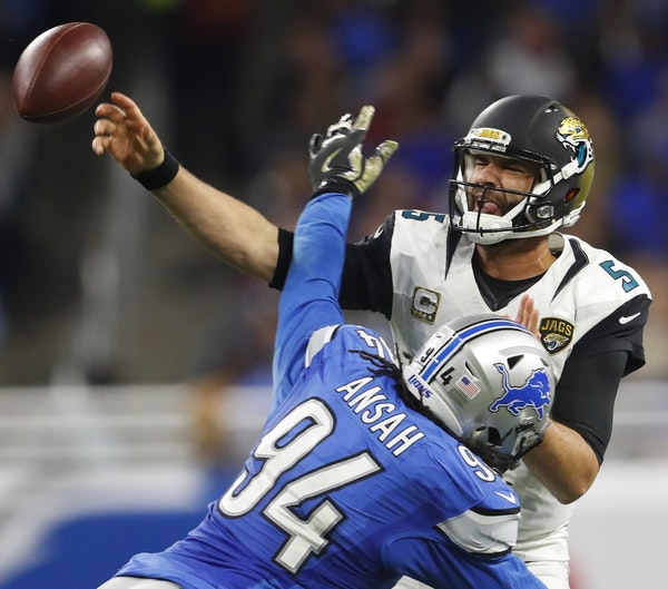 Jaguars quarterback Blake Bortles led the NFL in interceptions last season (18) and leads the way this year with 15.