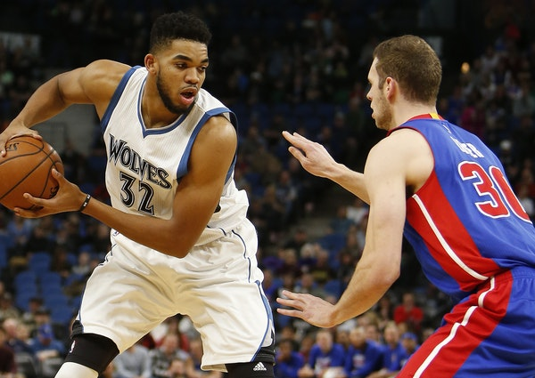 The Wolves' Karl-Anthony Towns will get his five-year, maximum extension in 2018.