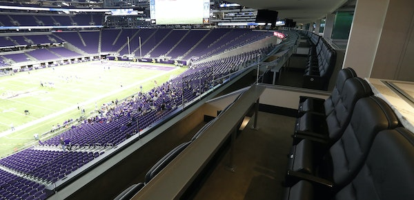 Minnesota Sports Facilities Authority Chairwoman Michele Kelm-Helgen controls two lower level suites at U.S. Bank Stadium with almost 40 available sea