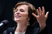 When it comes to downtown business leaders and Minneapolis Mayor Betsy Hodges, shown in June announcing a new phase of Niciollet Mall's reconstructi