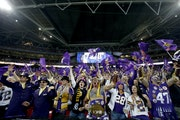 Vikings fans cheered on the team against the Pittsburgh Steelers in London's Wembley Stadium in 2013. The NFL announced Tuesday that the Vikings will