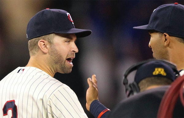Second baseman Brian Dozier (2) wants to stay with the Twins but knows it's not his decision.