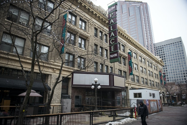 The exterior of the Palace Theatre. ] (AARON LAVINSKY/STAR TRIBUNE) aaron.lavinsky@startribune.com A first look at the $12 million renovations to the