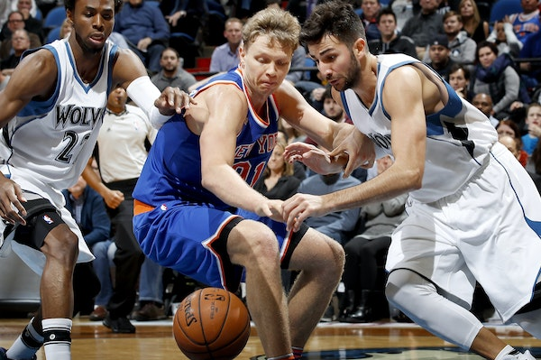 Wolves guard Ricky Rubio, right, has a long history of wanting the ball in his hands in the fourth quarter of close games. Now the Wolves are using An