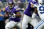 Running back Adrian Peterson may have made his last appearance in purple on Dec. 18 against the Colts.