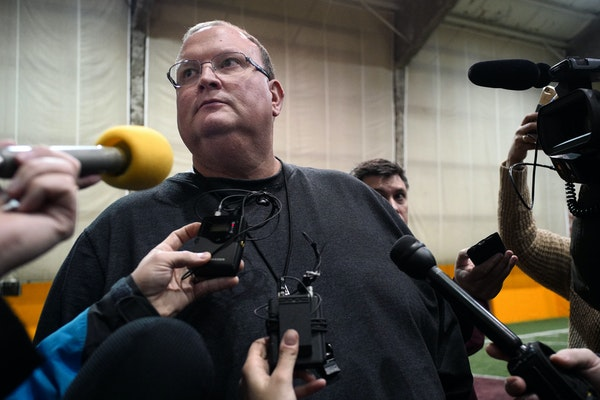 Tracy Claeys addressed the media Sunday evening about his status as coach of the Gophers football team.