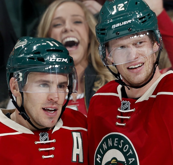 Wild players Zach Parise, left, and Eric Staal were among the prospects taken in the first round of the 2003 NHL draft, perhaps the deepest ever. It w