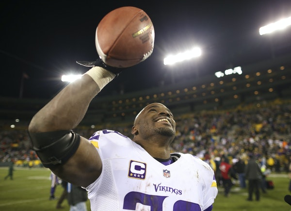 In his most recent visit to Lambeau, Adrian Peterson walked off a winner as the Vikings clinched the NFC North title last season.