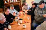 A group of friends, all Trump supporters, met for breakfast Jan. 3 in the restaurant at Sweet's Hotel in LeRoy, Minn.