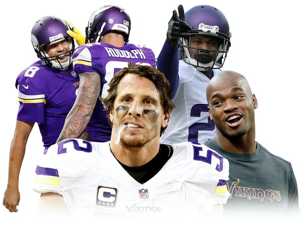 A busy Vikings offseason will include decisions on several veterans, including, clockwise from upper left, QB Sam Bradford, DB Terence Newman, RB Adri