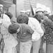 South Korean soldiers captured student rebels in Gwangju on May 27, 1980. Associated Press
