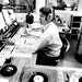 """Johnny Canton at work at WDGY Radio in July 1970. """"I was going to be a schoolteacher until I was 12,"""" he remembered. """"And then I went to a radio stati"""