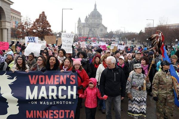 Minnesota women take to streets in St. Paul, D.C.