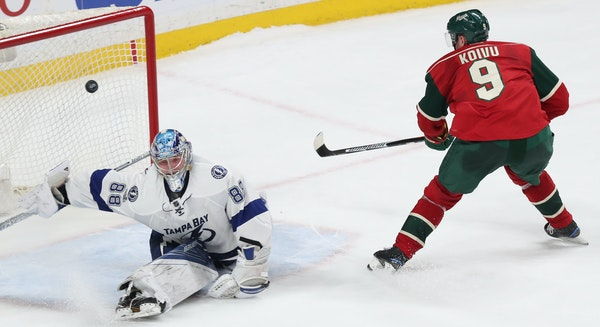 Mikko Koivu did his job with a high backhander against Tampa Bay goalie Andrei Vasilevskiy, while three Lightning players came up empty at the other e