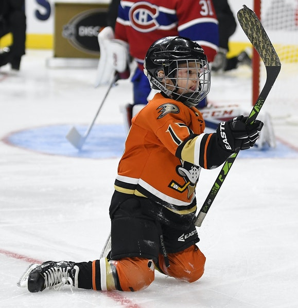 Ryker Kesler, son of the Ducks' Ryan Kesler, made a sieve out of Canadiens goalie Carey Price.
