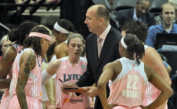 Assistant coach Jim Petersen talked to Lynx players during a timeout in a recent game. Basketball has always been a part of his life, from St. Louis P