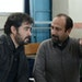 "Shahab Hosseini and director Asghar Farhadi on the set of ""The Salesman."""