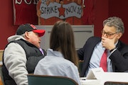 Sen. Al Franken met with Minnesota workers about President Donald Trump's nominees to lead the labor and education departments.