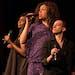 "Jomama Jones (aka Daniel Alexander Jones), center, with Helga Davis and Trevor Bachman in ""Black Light"" at Penumbra."