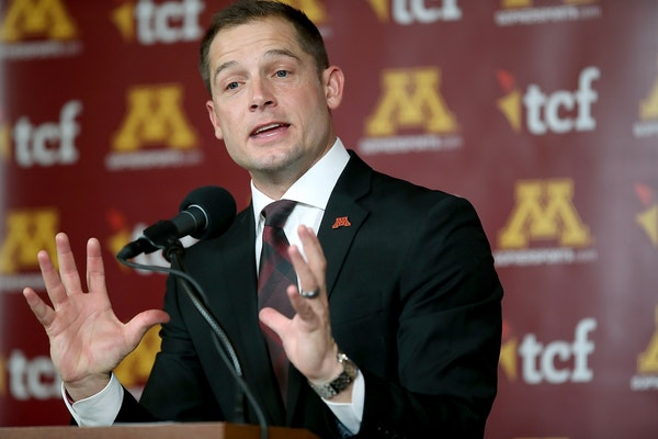 Minnesota's Head Coach P.J. Fleck addressed the media regarding his recruits during National Signing Day, at TCF Bank Stadium, Wednesday, February 1,