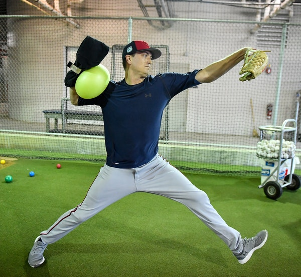 Twins pitcher Kyle Gibson said his new training program might look odd but is already having positive results.