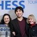 Minnetonka chess Grandmaster Wesley So, 23, is shown with his adoptive family, Lotis Key, left, and Abbey Key, after winning the Tata Steel Chess tour