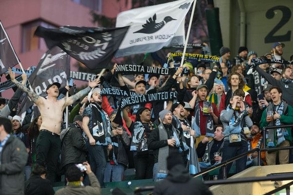 Portland Timbers against the Minnesota United in an MLS soccer game in Portland, Ore., Mar. 3, 2017. (AP Photo/Randy L. Rasmussen) ORG XMIT: ORRR101