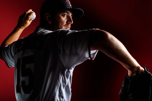 Twins pitcher Glen Perkins was photographed during photo day Thursday.