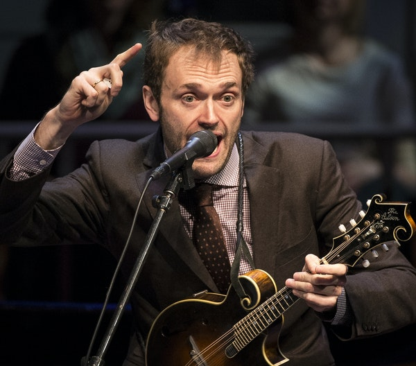 Chris Thile, shown in 2016, expressed Saturday his heartbreak over news that Garrison Keillor had been dropped from MPR earlier this week after allega