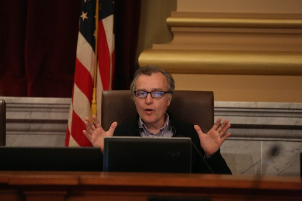 The Minneapolis DFL conducted a poll recently to see if Green Party City Council Member Cam Gordon, pictured in 2015, is vulnerable to a challenge.