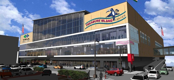 Treasure Island Resort and Casino has signed on for the naming rights of the former Macy's building in downtown St. Paul. (Image provided by Treasure