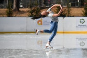 """""""Bonkers"""" is how Tanner Glaza described ice skating in Minnesota at 60 degrees. Hanna Peterson said """"its an amazing feeling to have the hot sun on you"""