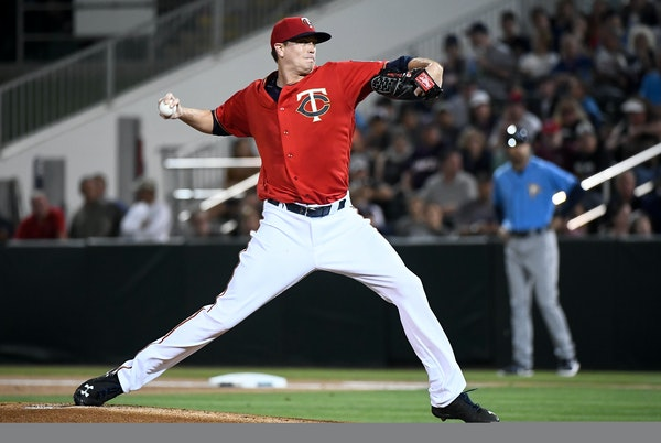Twins starting pitcher Kyle Gibson threw the first pitch of the game against the Tampa Bay Rays Friday night.