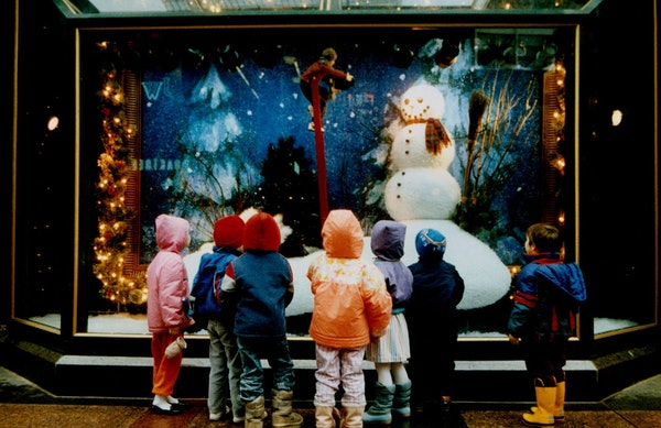 Children get an eyeful of Christmas at the Macy's store in downtown Minneapolis, then a Dayton's store, in 1991.