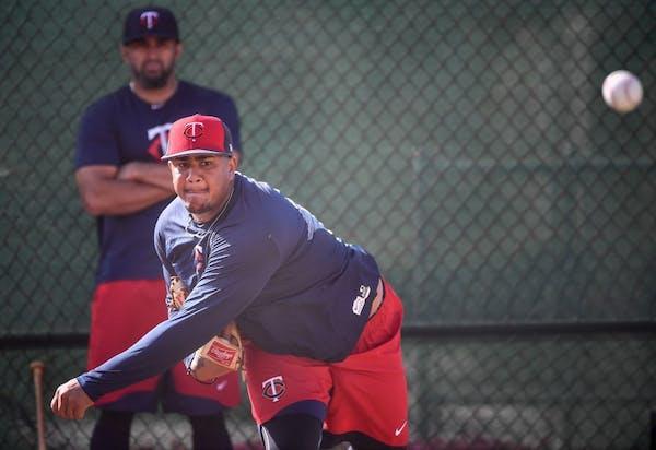 Twins pitcher Adalberto Mejia.