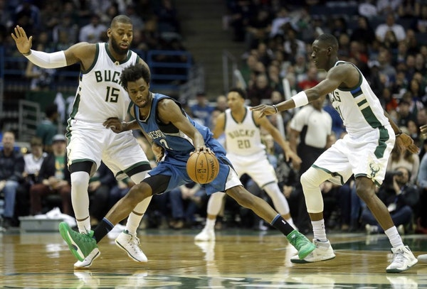 Wolves lose 102-95 to talented, young Bucks