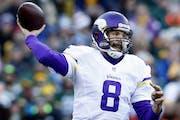Vikings quarterback Sam Bradford.