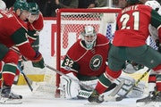 Wild goalie and Minnesota native Alex Stalock fended off the Senators' Jean-Gabriel Pageau and gave up only one goal on 19 shots.
