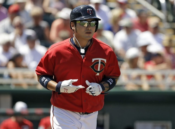 Minnesota Twins' Byung Ho Park walks against the Tampa Bay Rays during the fifth inning of a spring training baseball game Tuesday, March 28, 2017, in