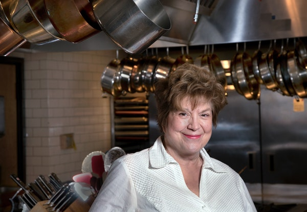 Lynne Rossetto Kasper, photographed at Cooks of Crocus Hill in St. Paul.