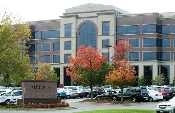 In this Thursday, Sept. 25, 2014 photo, the headquarters of Medica is pictured in Minnetonka.