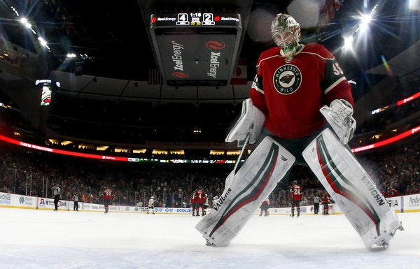 Wild goalie Darcy Kuemper's season has gone downhill. He hopes to salvage something Saturday in the season finale in Arizona. Star Tribune photo by