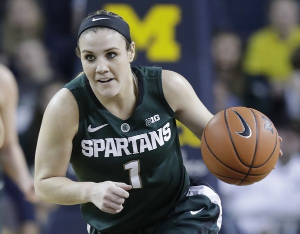 Michigan State's Tori Jankoska is one of the guards the Lynx could take with the No. 12 overall pick in the WNBA draft.