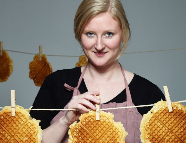 Stine Aasland, the Waffle Queen.