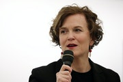 Mayor Betsy Hodges spoke at a mayoral forum in April.