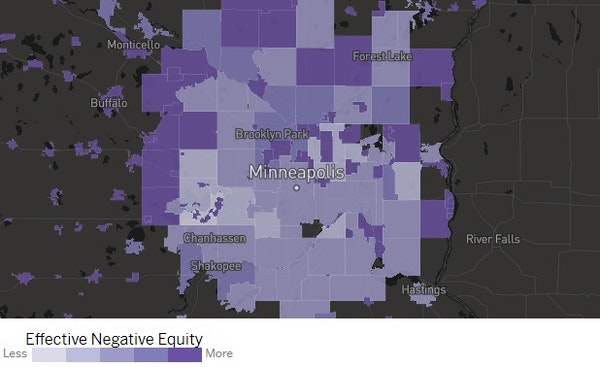 Find out whether lack of home equity is a problem where you live