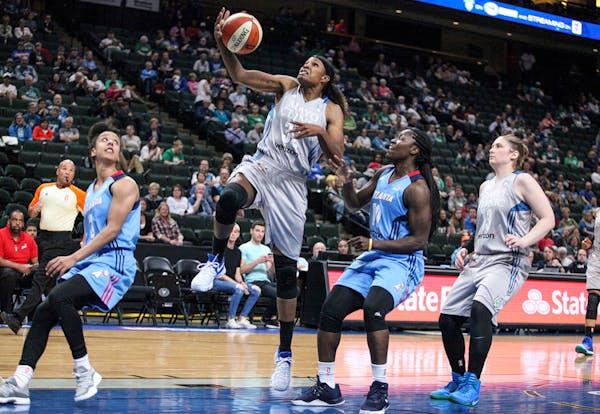 Lynx forward Rebekkah Brunson scored on a layup in the first period.