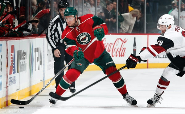Wild defenseman Christian Folin, injured in March, underwent arthroscopic surgery to repair a labral tear in his right shoulder Monday. ] CARLOS GONZA