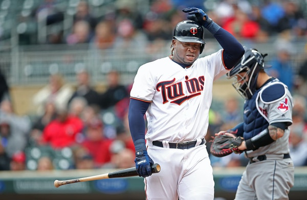 Miguel Sano reacted in frustration after striking out during the fourth inning Thursday.