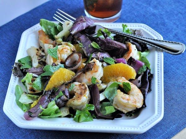 Grilled Shrimp, Fennel and Orange Salad.